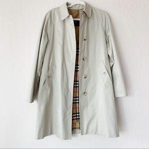 Burberry London Light Khaki Coat Size 6